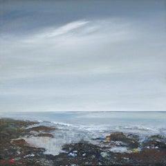 Shoreline - contemporary acrylic painting landscape coastline