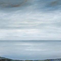 Tranquility - contemporary acrylic painting landscape coastline