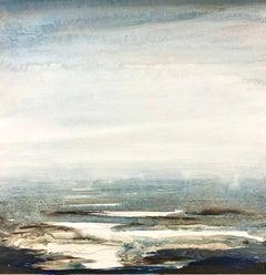 Tread Softly 207 - abstract seascape ocean beach painting modern contemporary