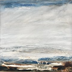 Tread Softly 209 - Abstract landscape beach sea painting Modern art 21st Century