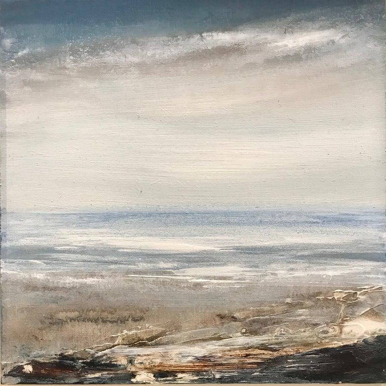 Leila Godden UA Abstract Painting - Tread Softly 210 -abstract coastal landscape sea acrylic painting contemporary