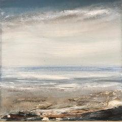 Tread Softly 210 -abstract coastal skyscape sea painting contemporary art 21st C