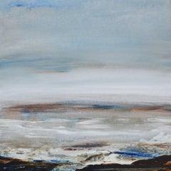 Tread Softly 211 - Abstract landscape sea coastal artwork Modern Contemporary
