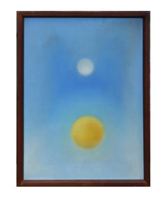 """""""Sun and Moon"""" Contemporary Minimal Abstract Painting"""