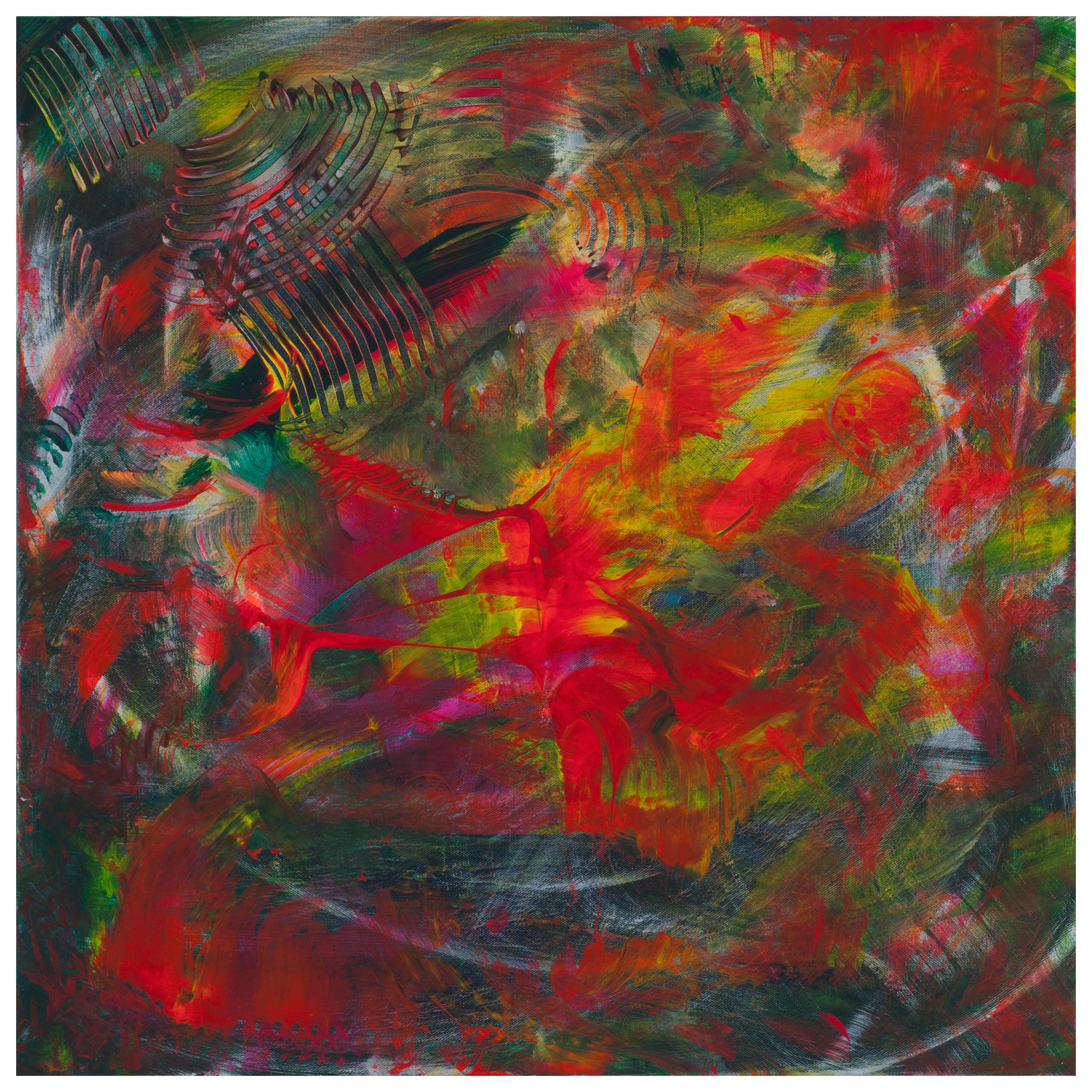 """Leila Pinto, """"Festival of Holi"""" Acrylic on Canvas"""