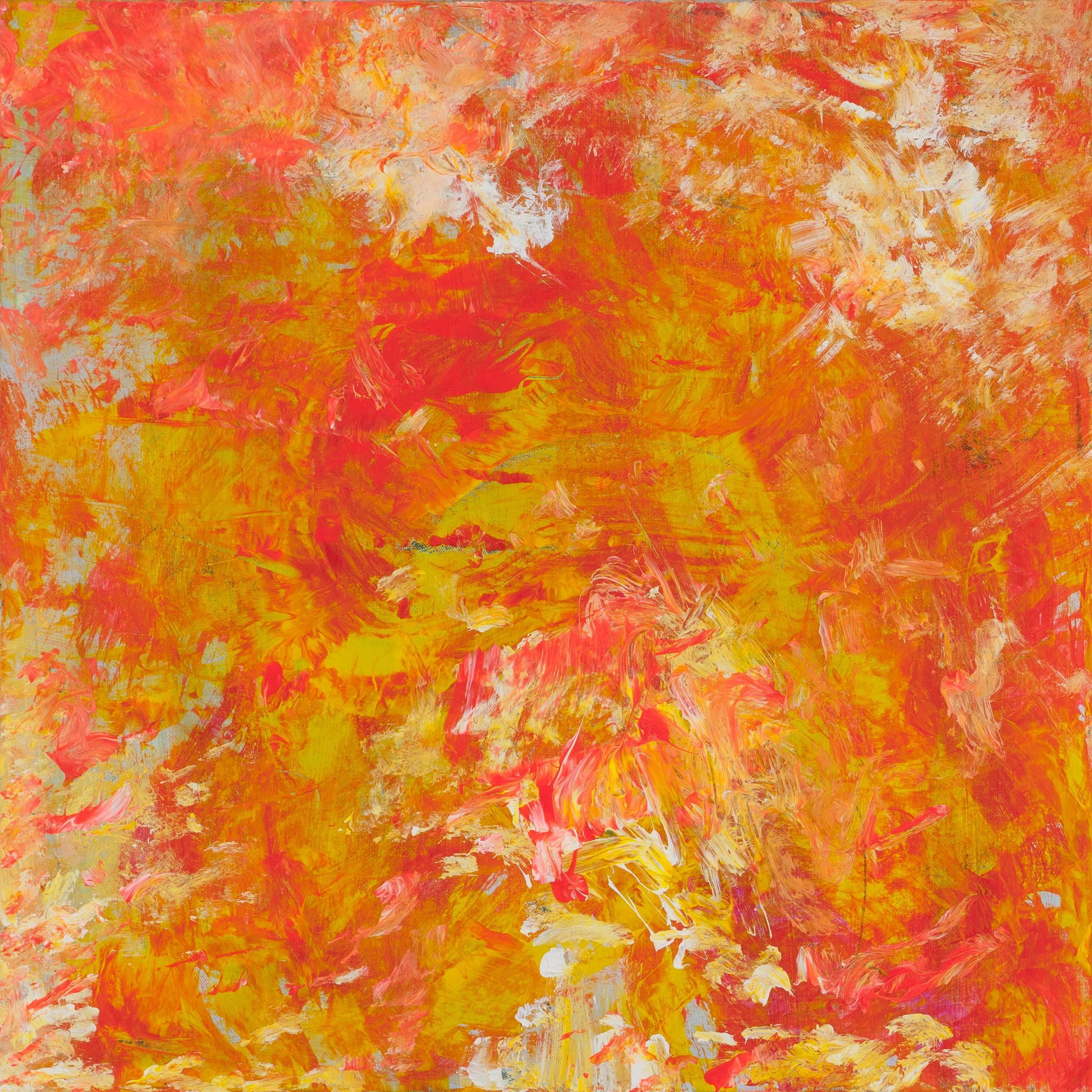 "Leila  Pinto, ""Sagaponack Maples"",  Acrylic on Canvas"
