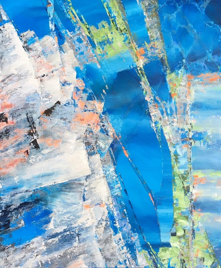 Leith Ridley Abstract Painting - Into The Blue