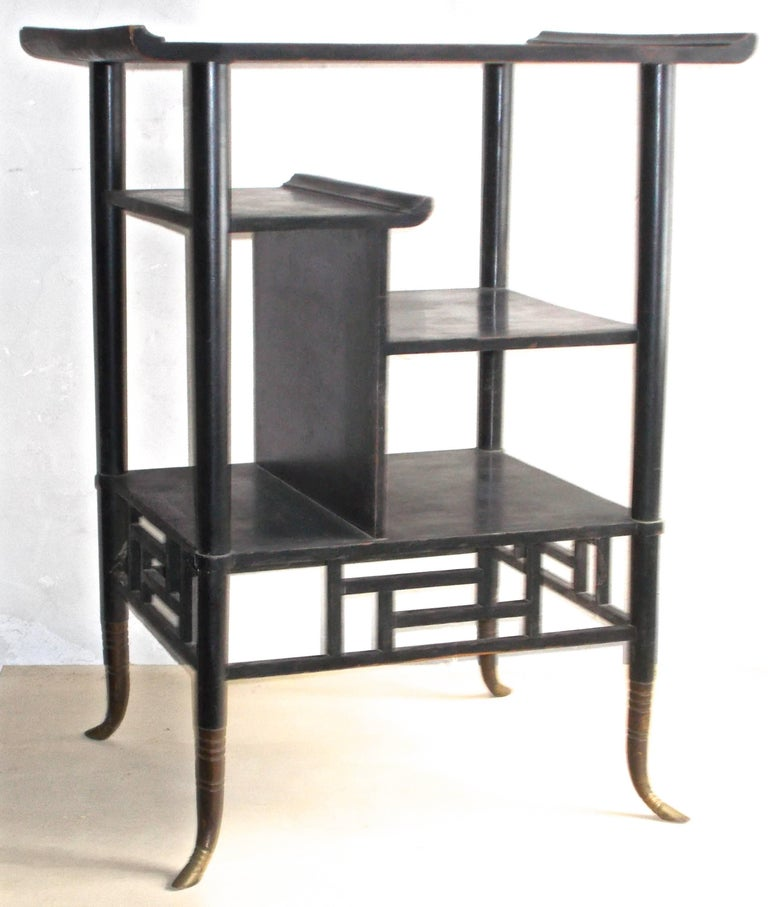 Lejambre Aesthetic Movement Japanese Ebonized Etagere