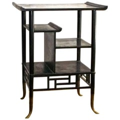 Lejambre Aesthetic Movement Japanese Ebonized Etagere, Philadelphia, circa 1880