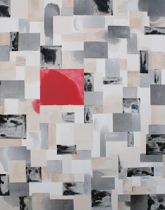 Red square bleed no. 1, Painting, Acrylic on Canvas