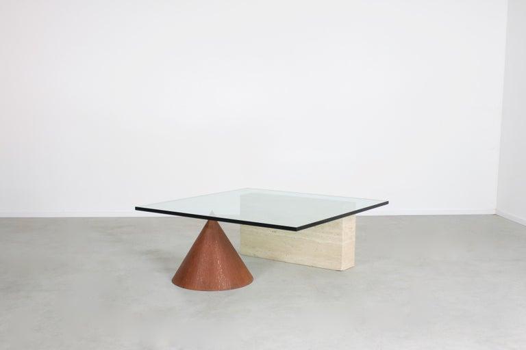 Mid-Century Modern Lela & Massimo Vignelli 'Kono' Coffee Table for Casigliani, Italy, 1970s For Sale