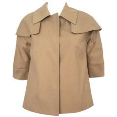 Lela Rose Tan Caped Swing Jacket Size 4. Never Worn.