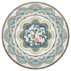 Leleu Anette Efflorescence - Floral Designer Hand Knotted Silk Rug