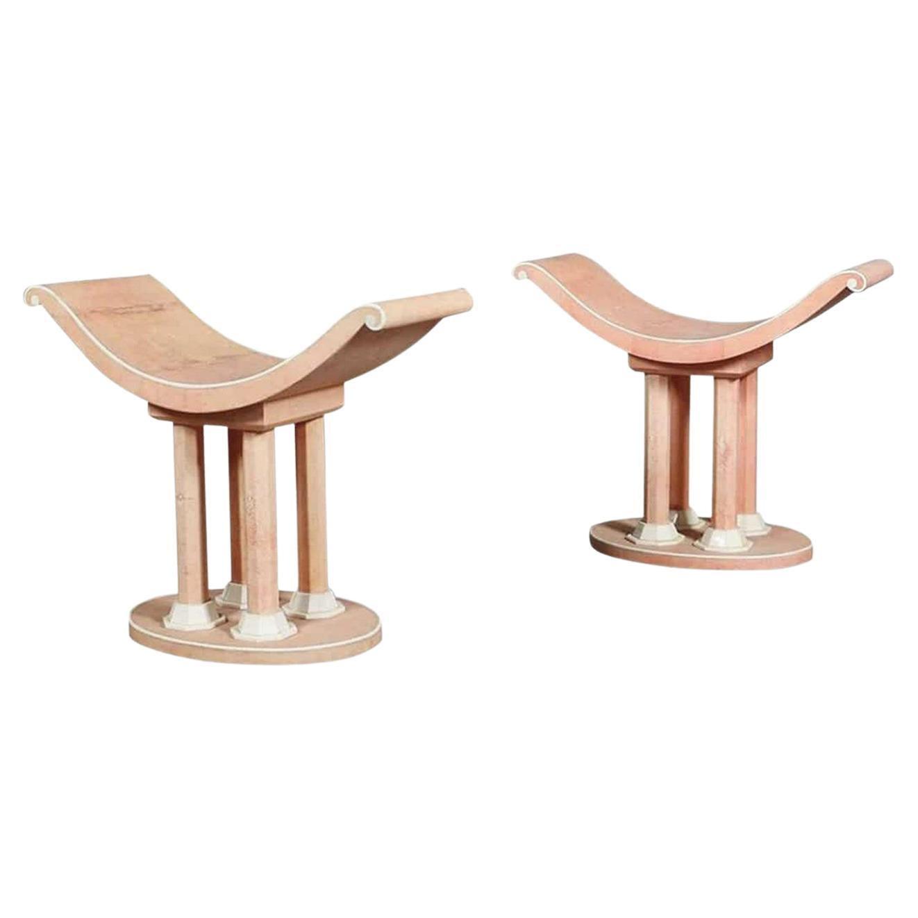 Leleu Art Deco Decorative Chairs