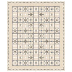 Leleu Laurel Nude - Patterned Luxury Hand Knotted Wool Silk Rug