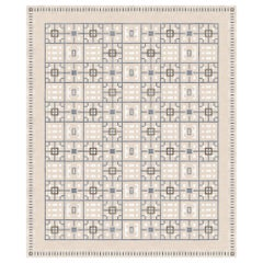Leleu Laurel Nude, Patterned Luxury Hand Knotted Wool Silk Rug