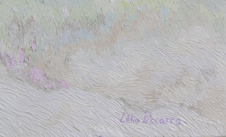 A Touch of Pink - Post-Impressionist Painting by Lelia Pissarro