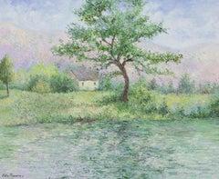 La Maison de Koula en Normandie by Lélia Pissarro - Oil landscape painting