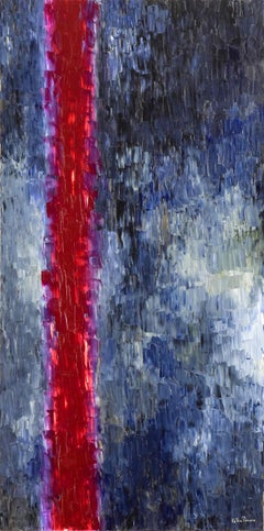 Open Gate by Lélia Pissarro - Contemporary Abstract painting