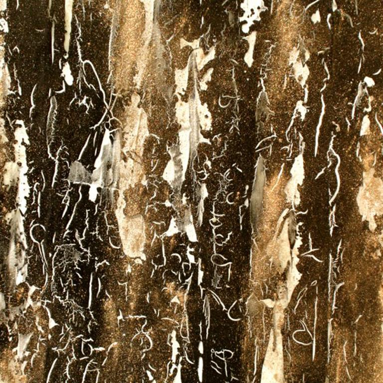 Original abstract painting by Lélia Pissarro titled 'A Connection and a Bond' - Abstract Mixed Media Art by Lelia Pissarro