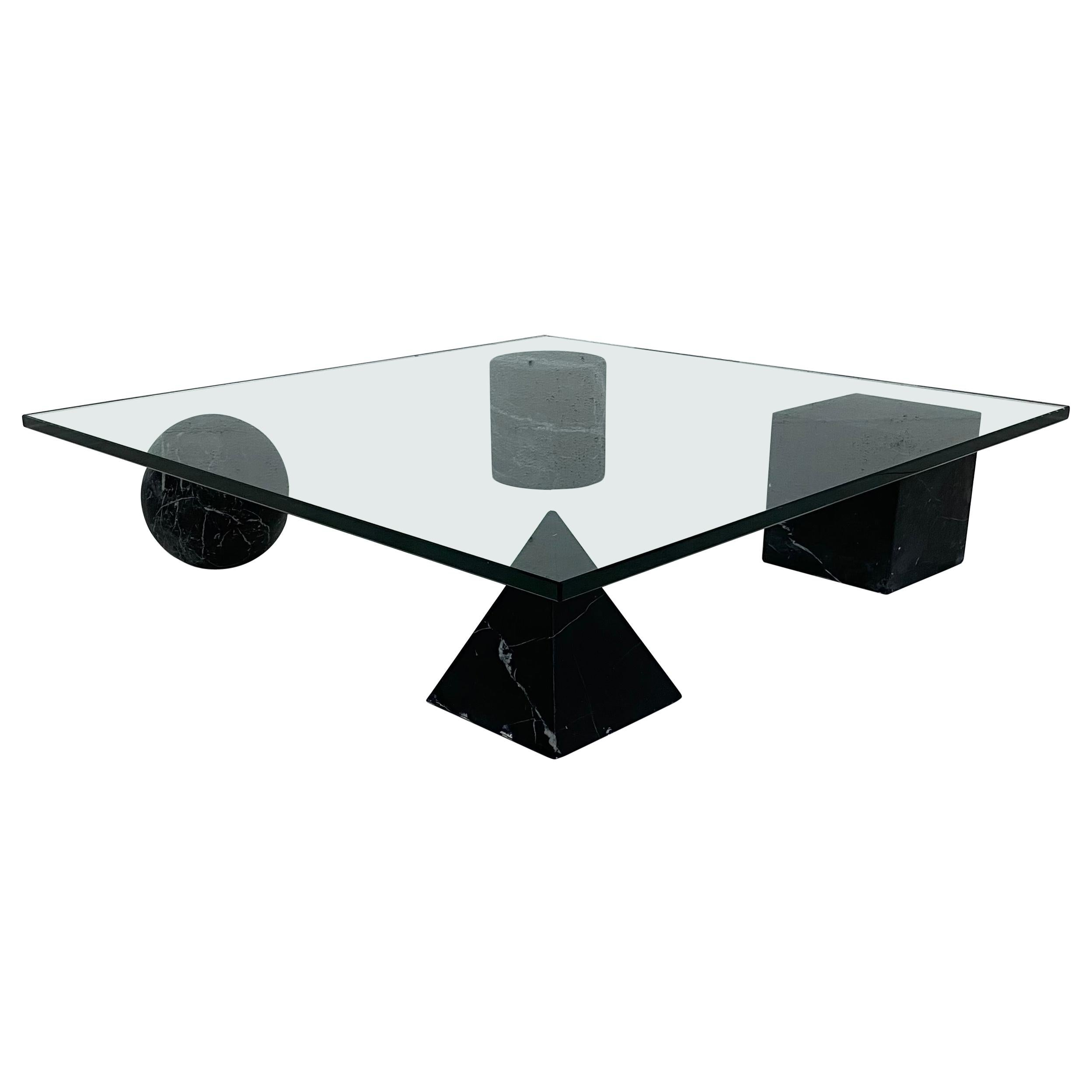 Lella and Massimo Vignelli Metafora Coffee Table for Casigliani, 1979