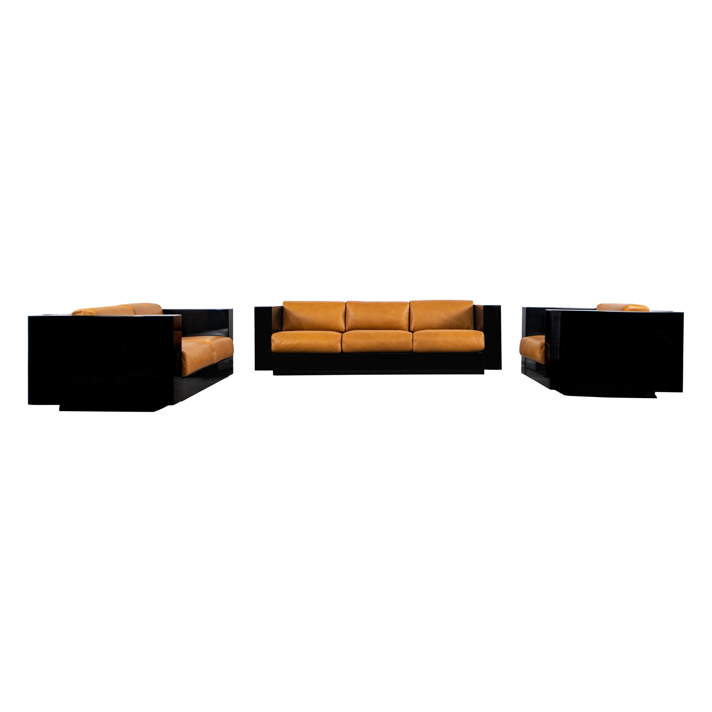 Lella & Massimo Vignelli Saratoga Living Room Set Poltronova, 1960s