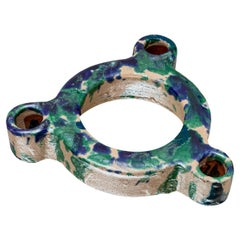 Lemni Trio, Blue and Green Candle Holder