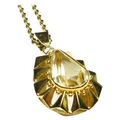 Lemon Citrine Pendant Necklace