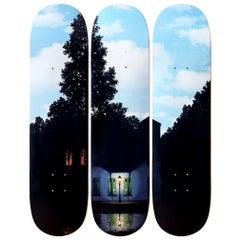 L'empire des Lumières Skateboard Decks after René Magritte