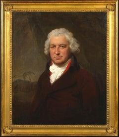 Portrait- Bryan Edwards MP FRS FRSA (1743-1800 ) a Caribbean landscape beyond
