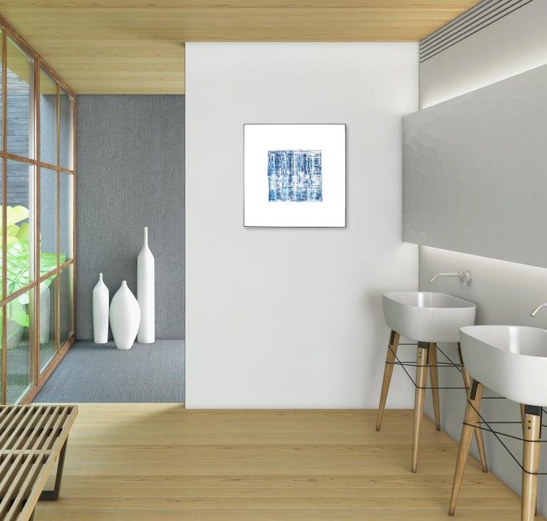 NY Blue 1 - Painting by Len Klikunas