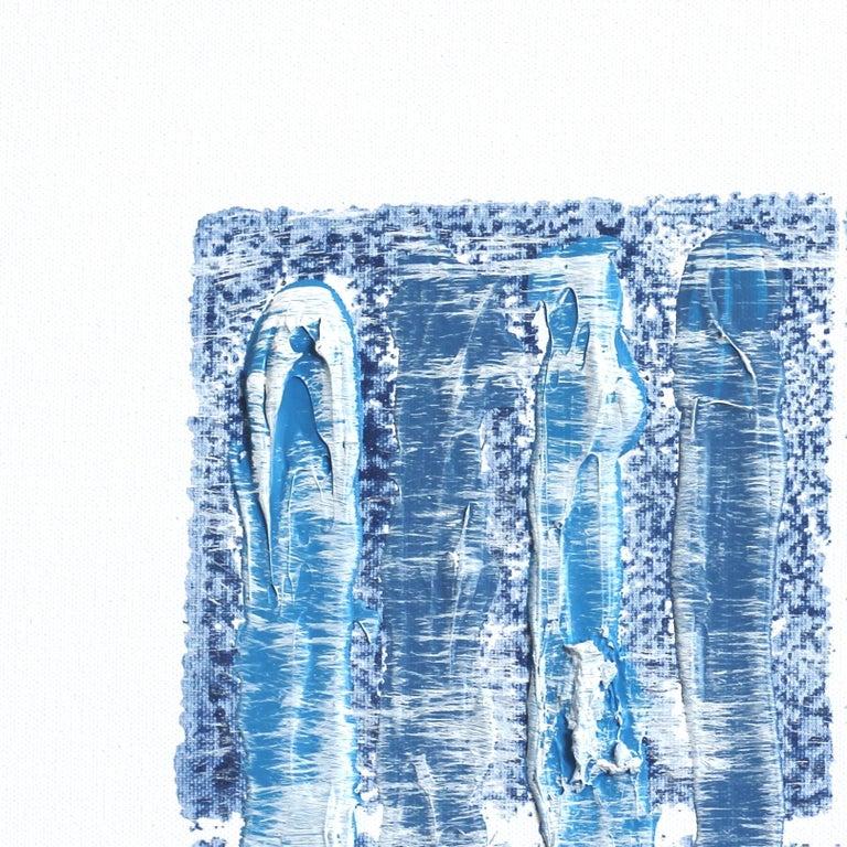 NY Blue 1 - Minimalist Painting by Len Klikunas