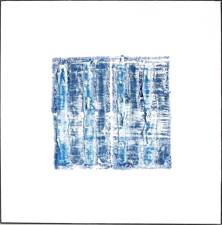 Len Klikunas Abstract Painting - NY Blue 1