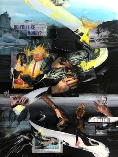 Don't drown (The Contemporary World)-collage,acrylic on canvas