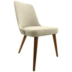 Lena Tapered Spindle Dining Chair with Oatmeal Chair Seat and Chair Back