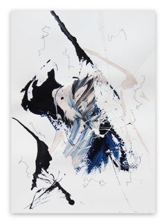 Blue Velvet 3 (Abstract work on paper)