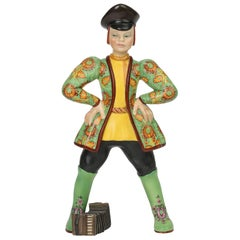 Lenci Art Deco Ivan the Russian Boy Pottery Figure by Elena Scavini