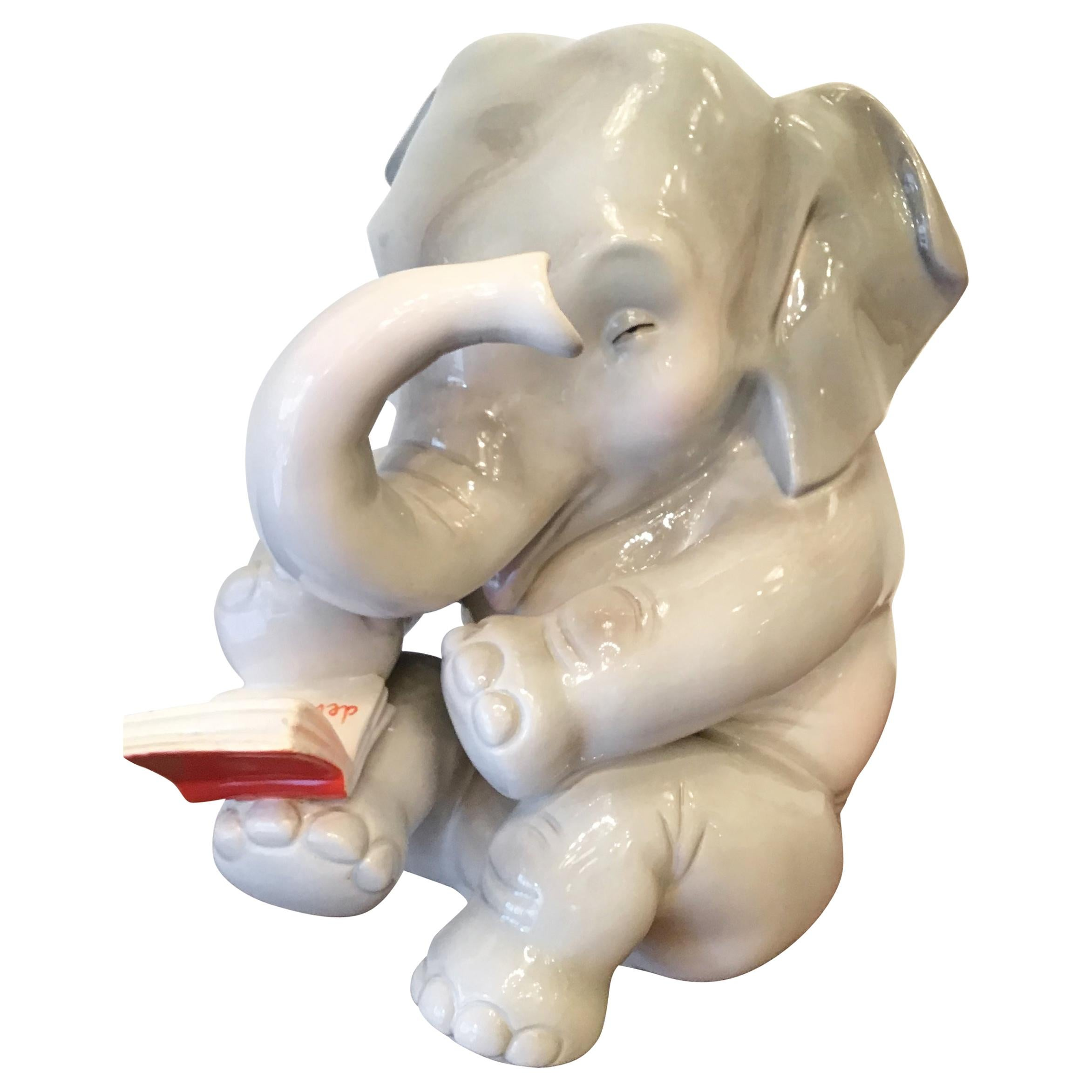 Lenci Ceramic Elephant 1950 Elena Scavini, Italy