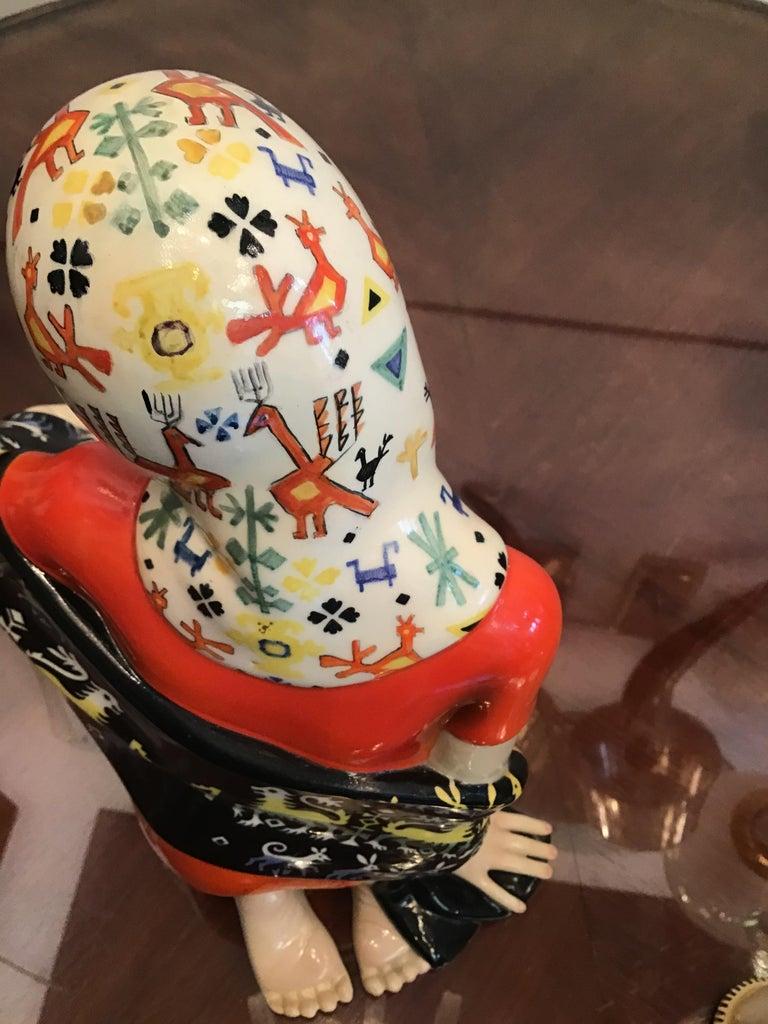 """LENCI """"Donna Sarda"""" Ceramic 1940 Italy  For Sale 4"""