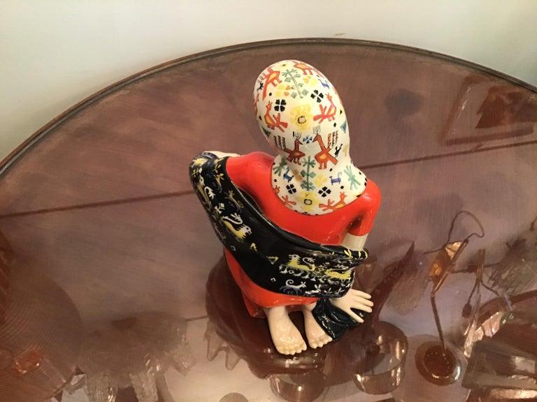 """LENCI """"Donna Sarda"""" Ceramic 1940 Italy  For Sale 5"""