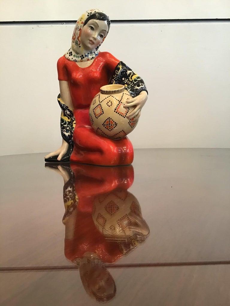 "Other LENCI ""Donna Sarda"" Ceramic 1940 Italy  For Sale"