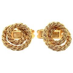 L'Enfant Gold Rope Cufflinks