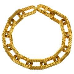 L'Enfant Yellow Gold Link Chain Bracelet Paris, 1970s