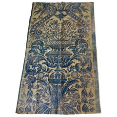 Length of Beautiful Blue Vintage Fortuny Fabric