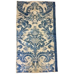 Length of Vintage Indigo Blue Vintage Fortuny Fabric