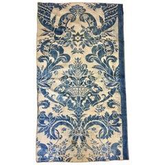 Length of Vintage Indigo Blue Vintage Fortuny Fabric