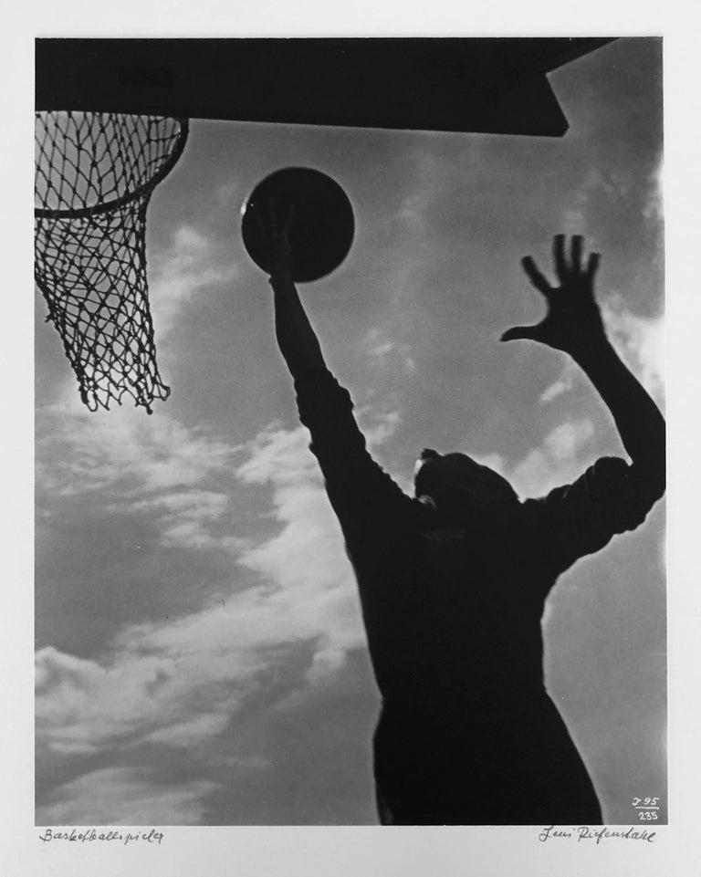 Leni Riefenstahl Black and White Photograph - Basketballspieler, Silver Gelatin Print