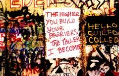 Berlin Wall Photograph 1989 (Berlin street photography Leni Sinclair)