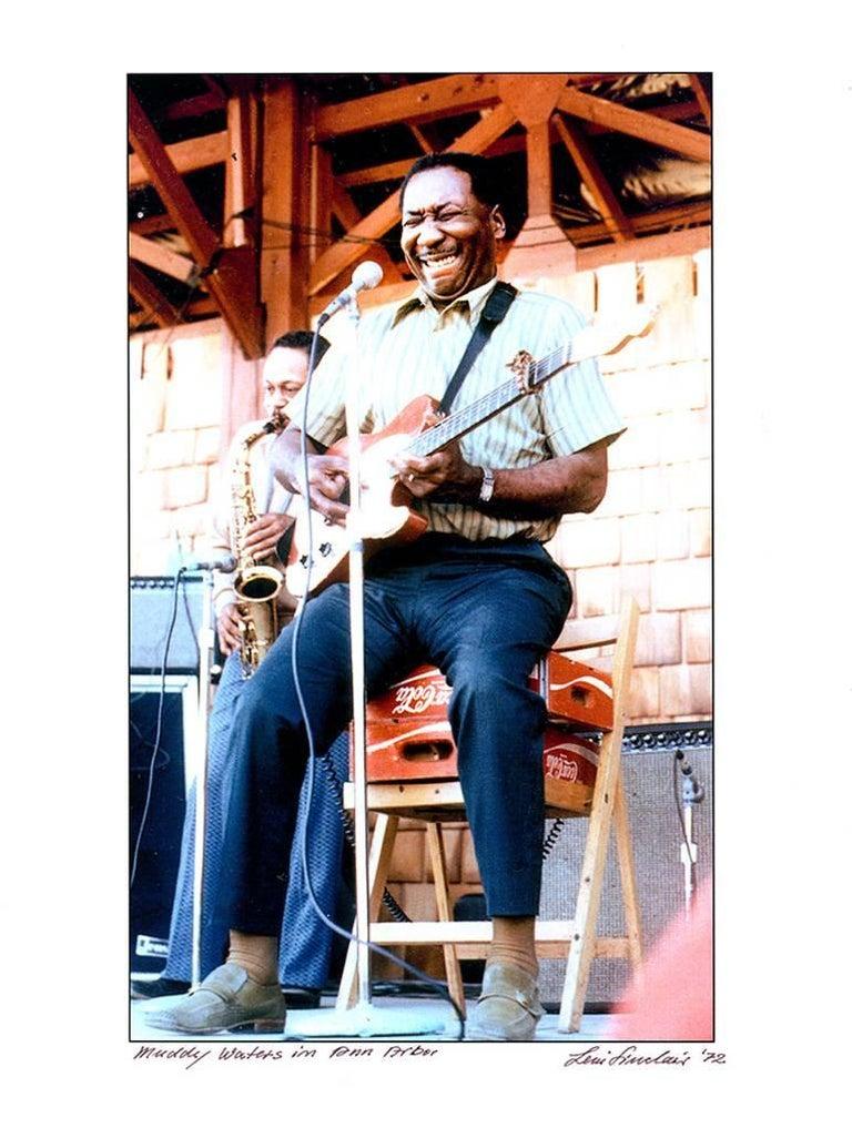 MUDDY WATERS photograph Detroit 1972 (Blues singer)  - Photograph by Leni Sinclair