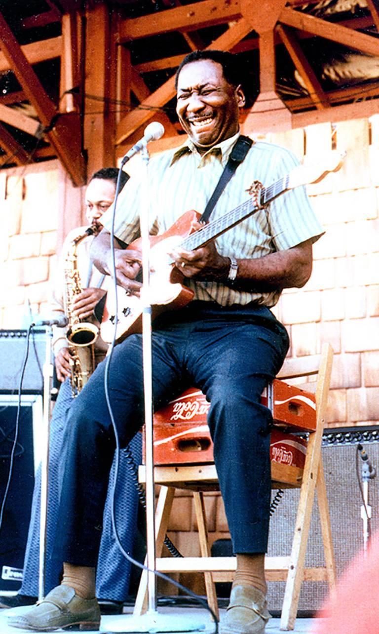 Leni Sinclair Color Photograph - MUDDY WATERS photograph Detroit 1972 (Blues singer)